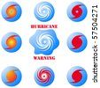 Hurricane icons set - stock vector