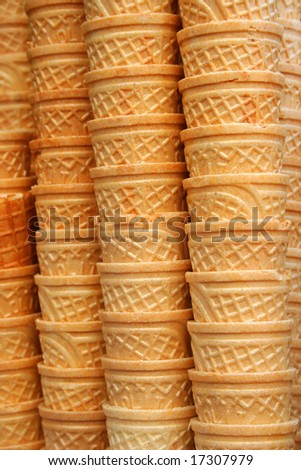 Ice cream cones as background