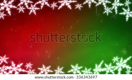 Ice crystal snowflakes of overlay background for Christmas celebration theme