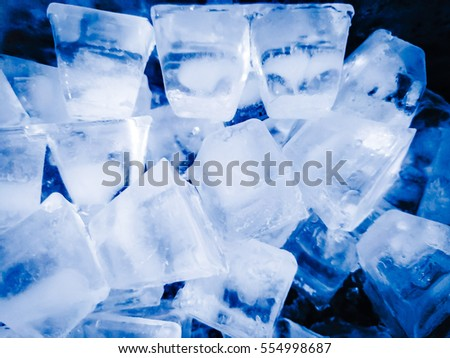 Ice cubes defrost in cinematic filter