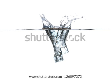 Water Air Bubbles Over White Background 153790367