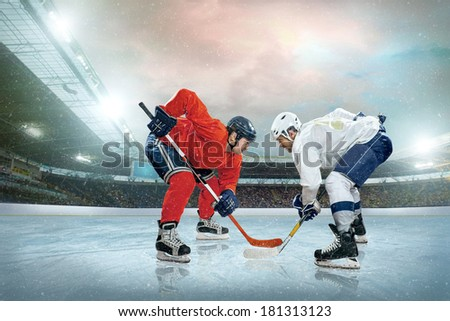 Ice hockey player on the ice open stadium winter for 10 facts about floor hockey