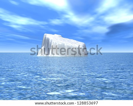 Iceberg Computer generated 3D illustration