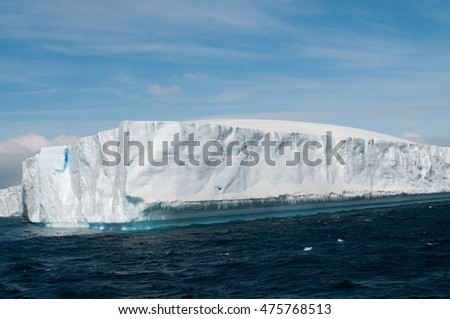 Icebergs near the Brown Bluff coast: Antarctica