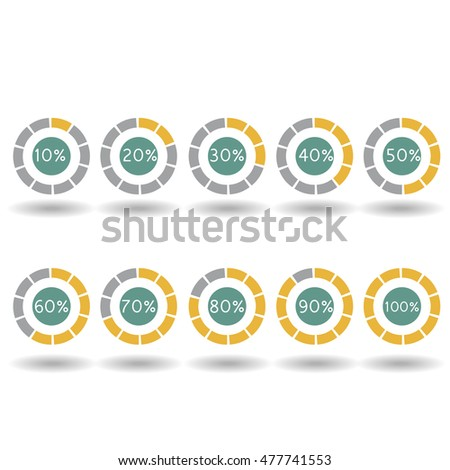 Business Infographic Icons Pie Graph Circle Stock Vector 420226129 ...