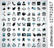 Icons set. Vector version also available in gallery. - stock photo