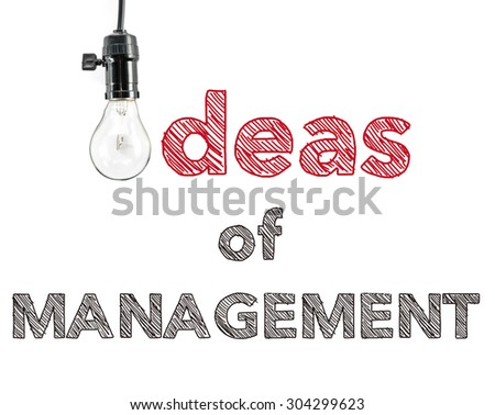 ideas of management phrase and light bulb, hand writing Marketing strategy successful