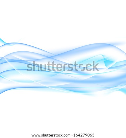 Illustration abstract water background, wavy design - raster