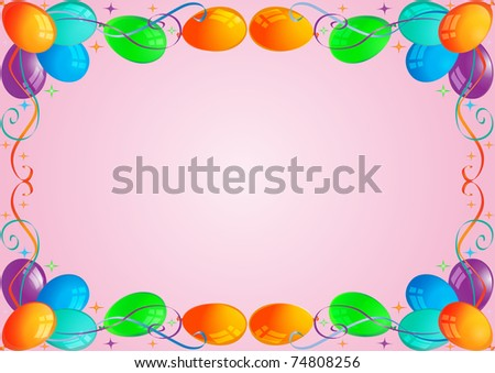 illustration background with air ball