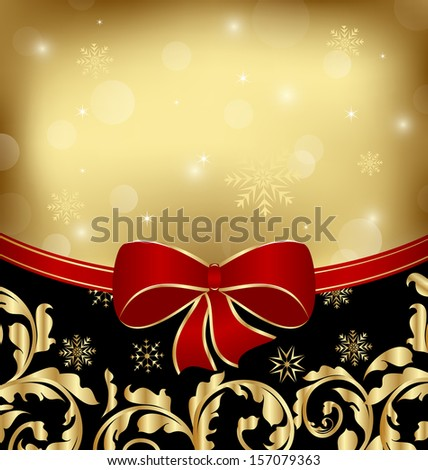 Illustration Christmas holiday ornamental decoration for design packing - raster