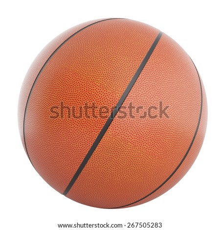 Illustration of a basketball isolated on a white background. 3d high resolution image