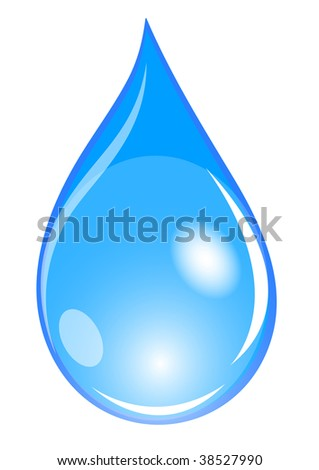 illustration of a blue water drop