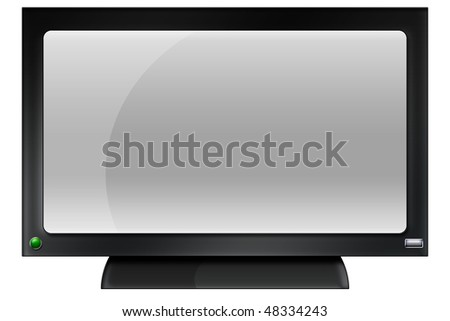 Illustration of a HDTV Widescreen Monitor