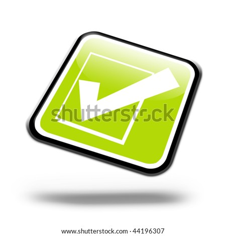 Illustration of a internet button on a white background