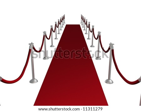 Illustration of a red carpet entrance