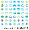 illustration of a set of weather icons - stock photo