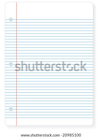 Illustration Of A Sheet Of Notebook Lined Paper You Can Write On.  Lined Paper To Write On