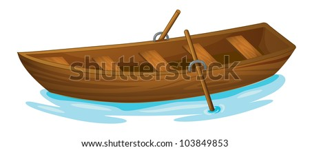 Illustration of a wooden boat - EPS VECTOR format also available in my portfolio.