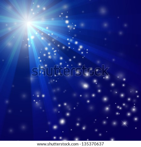 Illustration of Abstract blue Light background - vector version in portfolio