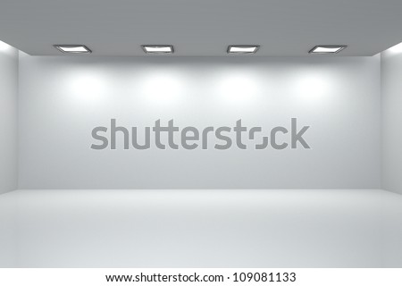 illustration of 3d image of empty wall for display