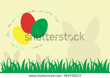 Illustration of Easter Eggs