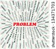 illustration of problem concept - stock photo