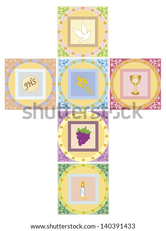 illustration of religion cross isolated