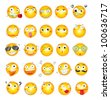 Illustration of smile face icons - EPS VECTOR format also available in my portfolio. - stock photo