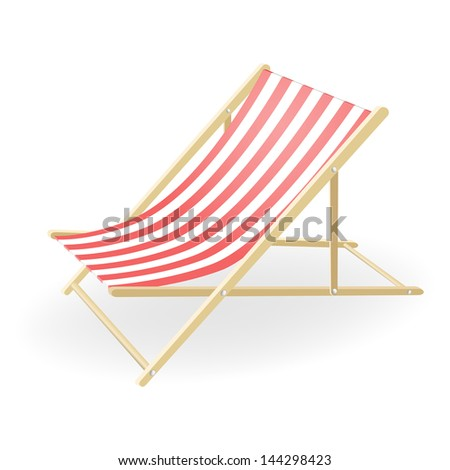 illustration of the striped sunchair