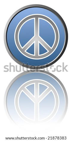 Illustration of the symbol of peace on white background