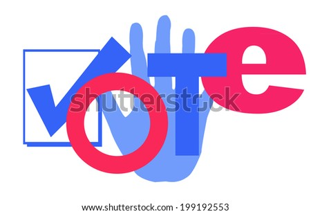 illustration of the word vote