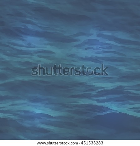illustration realistic water texture. Seamless pattern to use as a background for websites or other media. Seamless tile to make endless water surface texture.
