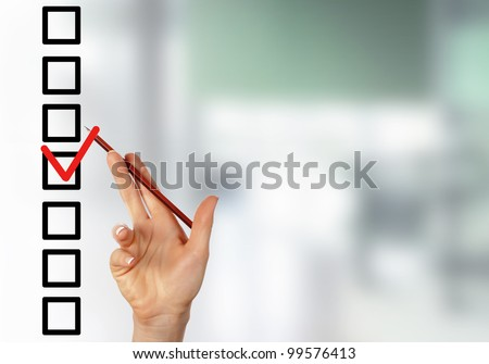 Image of a check list with red mark