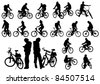 image of a cyclist fit - stock vector