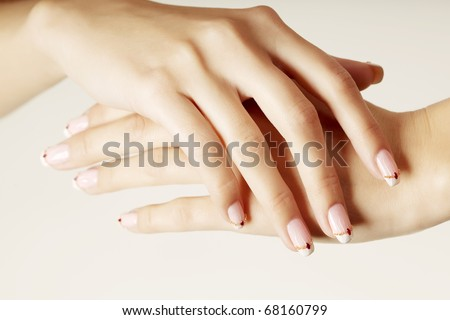 Image of beautiful hands with beautiful nails