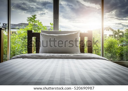Image of bedroom in the early morning