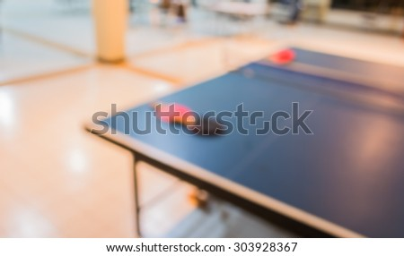 image of blur table tennis equipment for background usage .