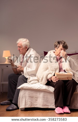 Image of dispute between married senior couple