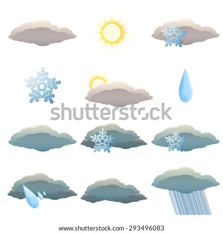 Image of set of Weather icons