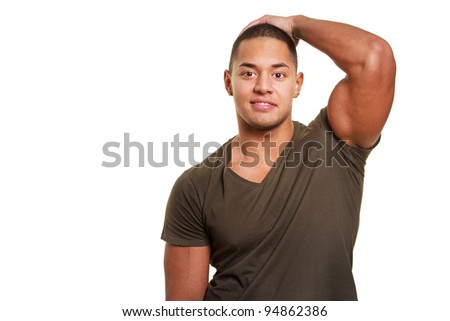 Image of sexy strong man in t-short