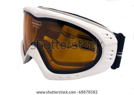 Image of the isolated mountain-skier glasses on a white background.