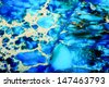 Imperial blue Jasper with lovely rich coloration and pattern. Detailed macro photo of pattern. - stock photo