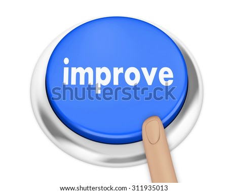 improve button on isolate white background