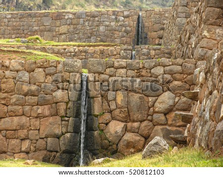 Incan ruins at Tipon, Peru.