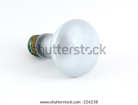 Incandescent bulb on white background