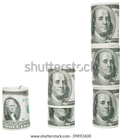 increase of dollars in the form of columns