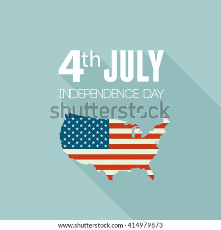 American Independence Day Patriotic Background Vector Stock Vector - Us map independence
