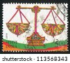 INDIA - CIRCA 2010: stamp printed by India, shows Libra, circa 2010 - stock photo
