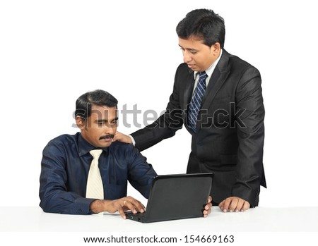 Indian business people working in office