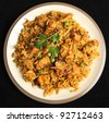Indian chicken tikka briyani meal - stock photo